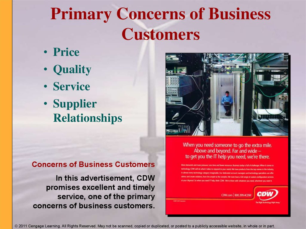 Primary Concerns of Business Customers