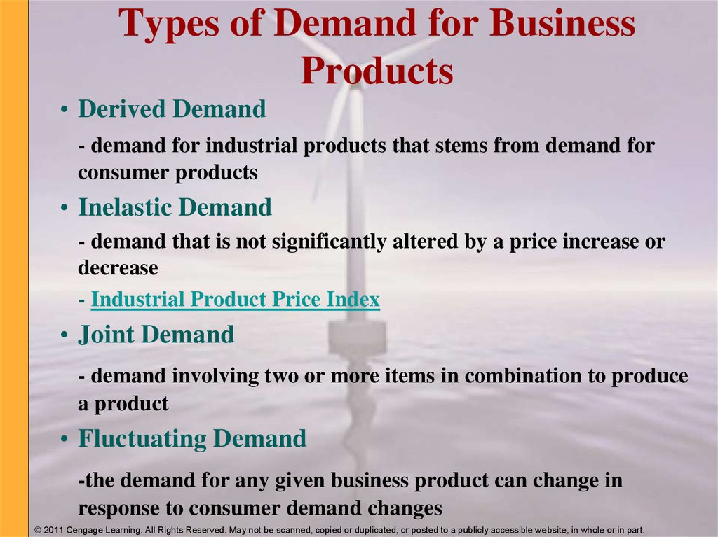 Types of Demand for Business Products