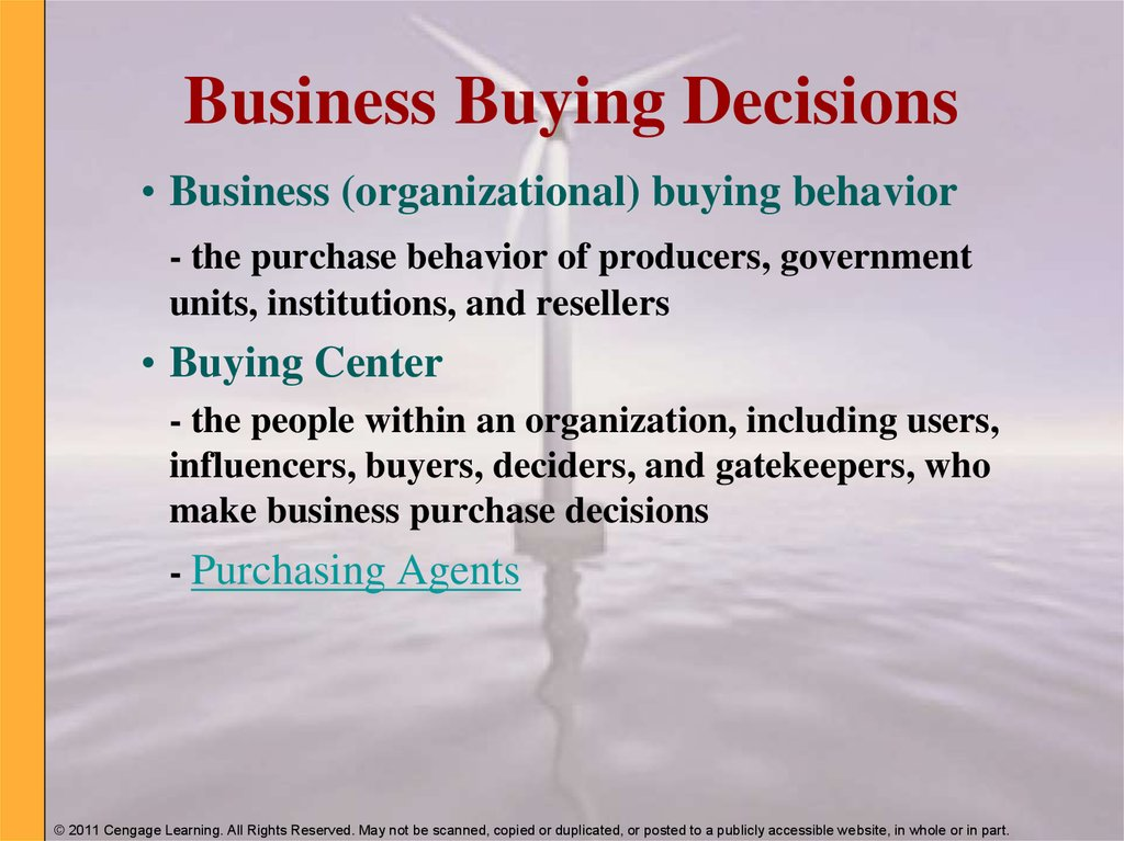 Business Buying Decisions