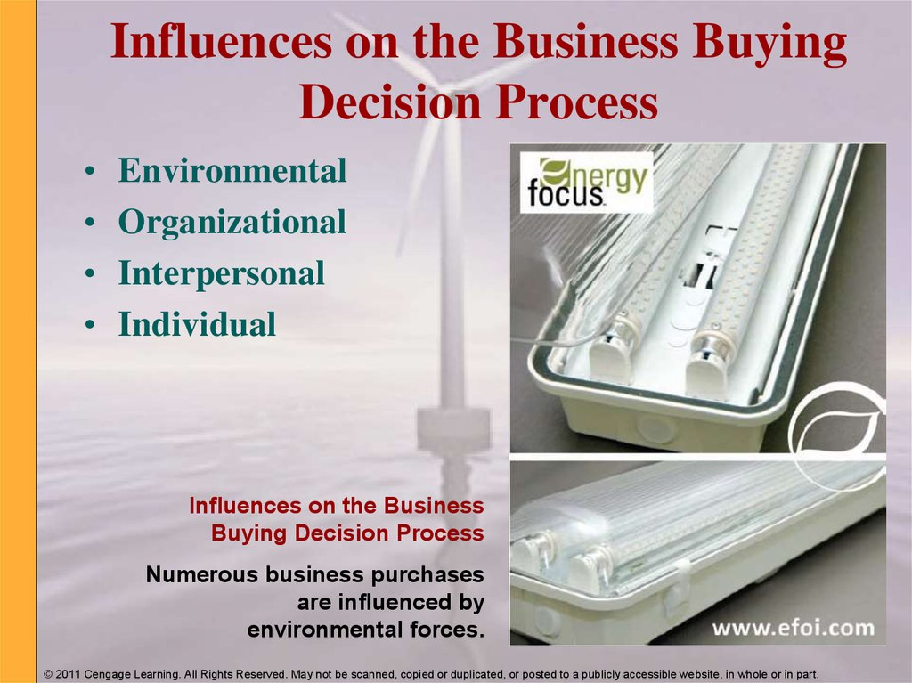 Influences on the Business Buying Decision Process
