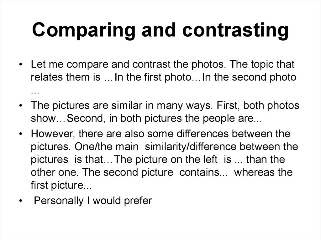 compare and contrast big city and What this handout is about this handout will help you first to determine whether a particular assignment is asking for comparison/contrast and then to generate a list of similarities and differences, decide which similarities and differences to focus on, and organize your paper so that it will be clear and effective.