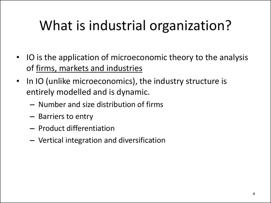 industrial organization problem set Undergraduate economics course andrew sweeting industrial organization would like to discuss problem set questions in class on mondays.