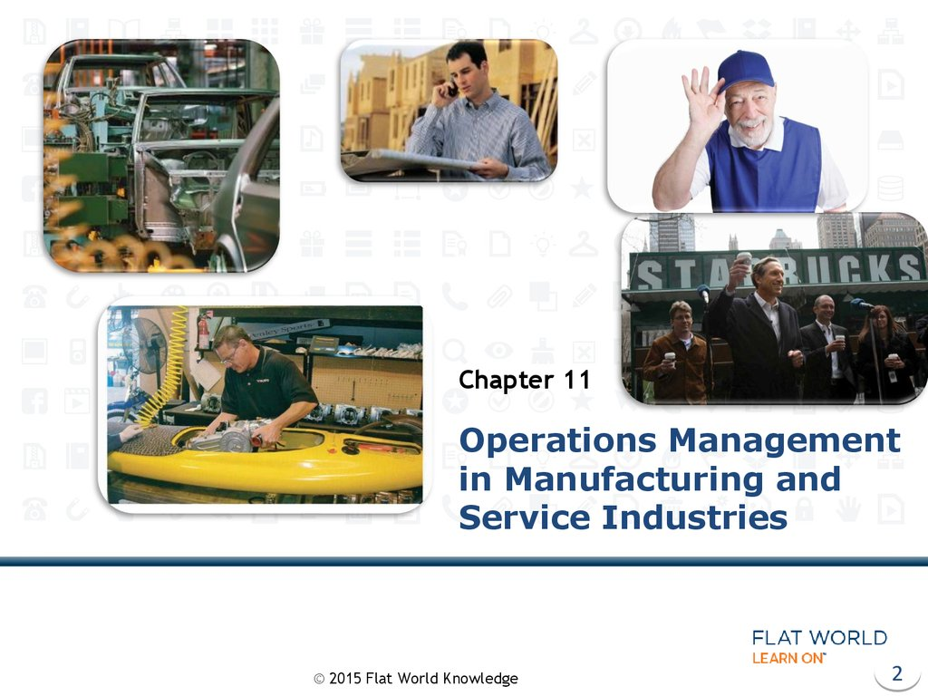 Operations Management in Manufacturing and Service Industries