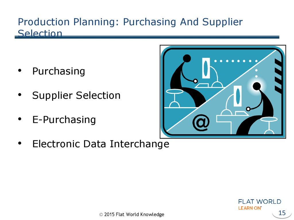 Production Planning: Purchasing And Supplier Selection