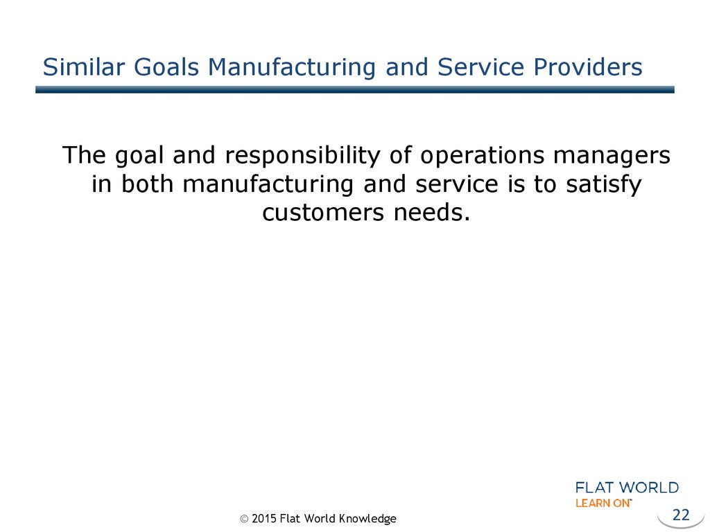 Similar Goals Manufacturing and Service Providers