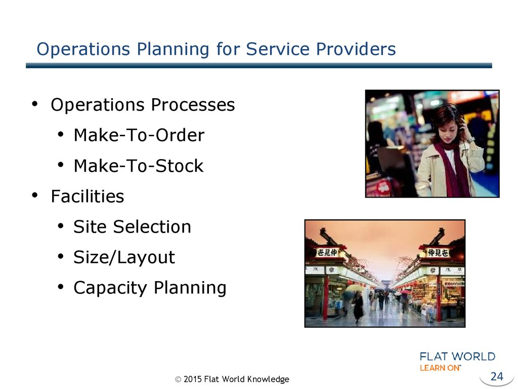 Operations Planning for Service Providers
