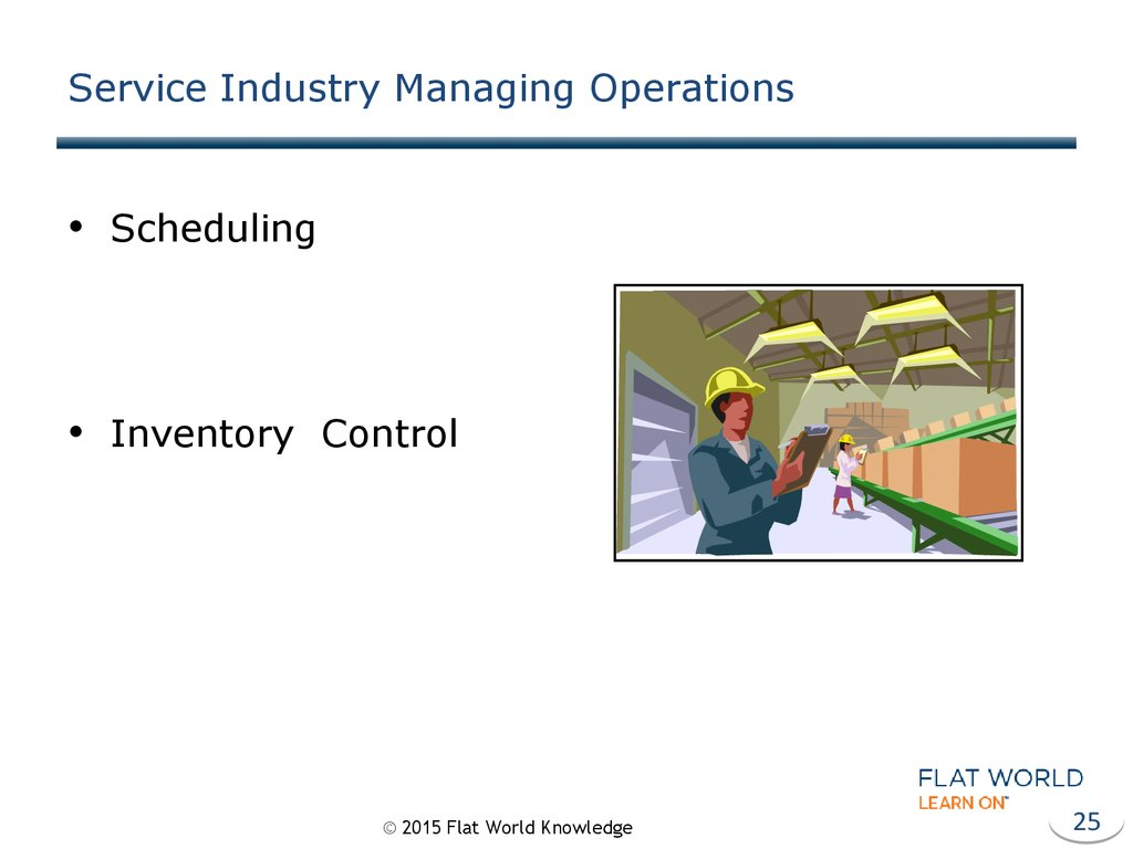 Service Industry Managing Operations
