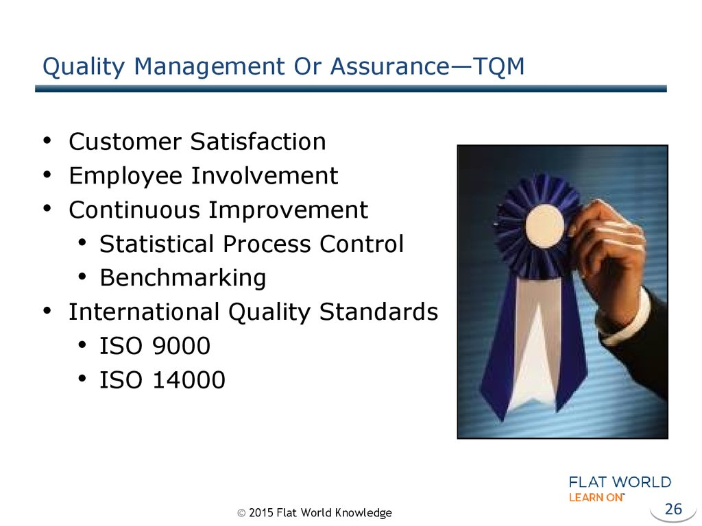 Quality Management Or Assurance—TQM