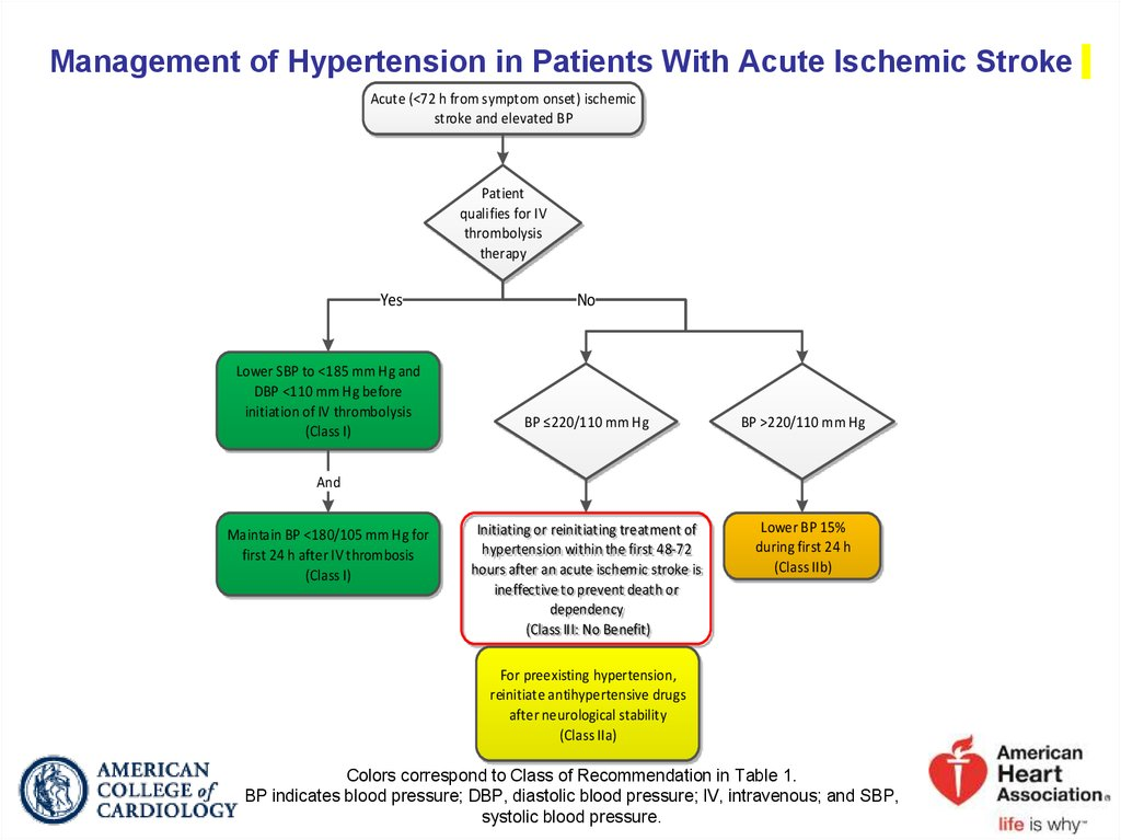 Management of Hypertension in Patients With Acute Ischemic Stroke