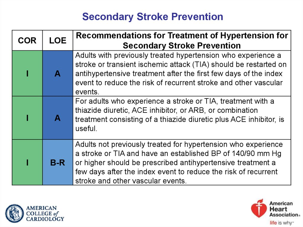 Secondary Stroke Prevention