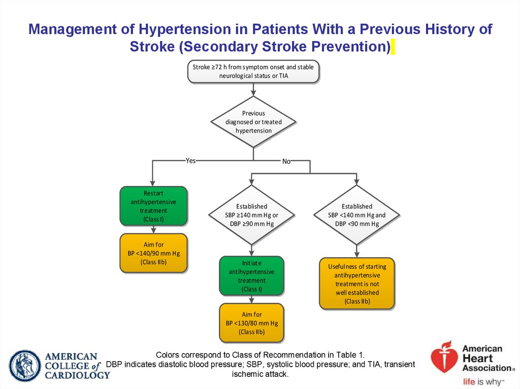 Management of Hypertension in Patients With a Previous History of Stroke (Secondary Stroke Prevention)