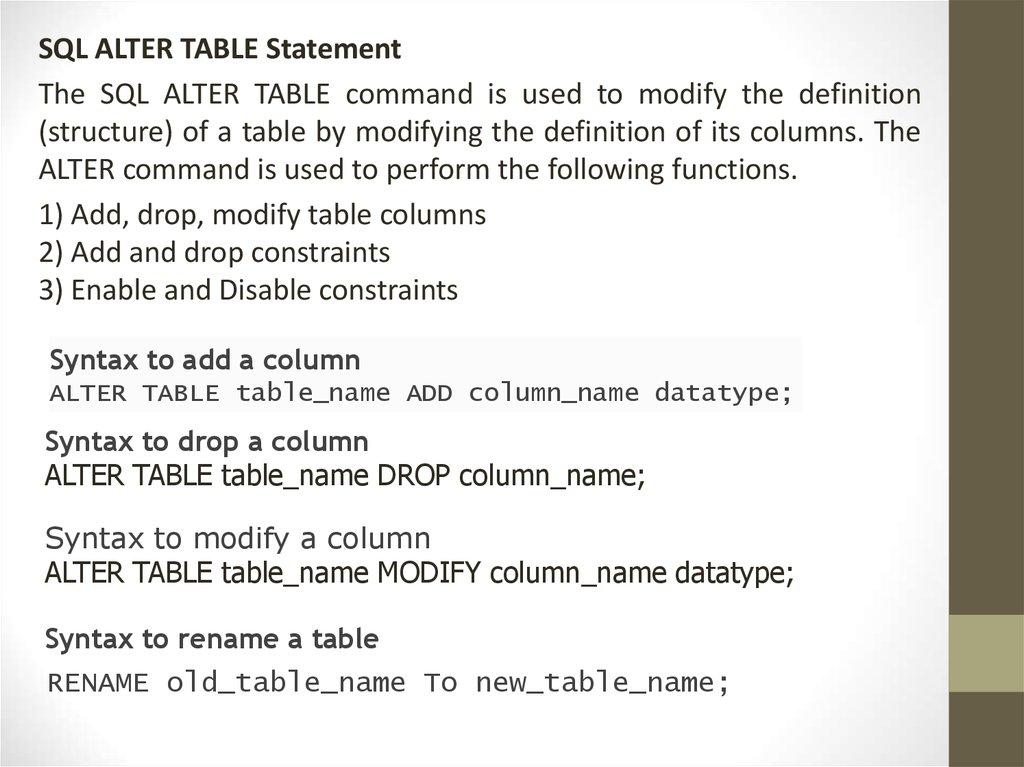 Database  Database management system MySQL - презентация онлайн