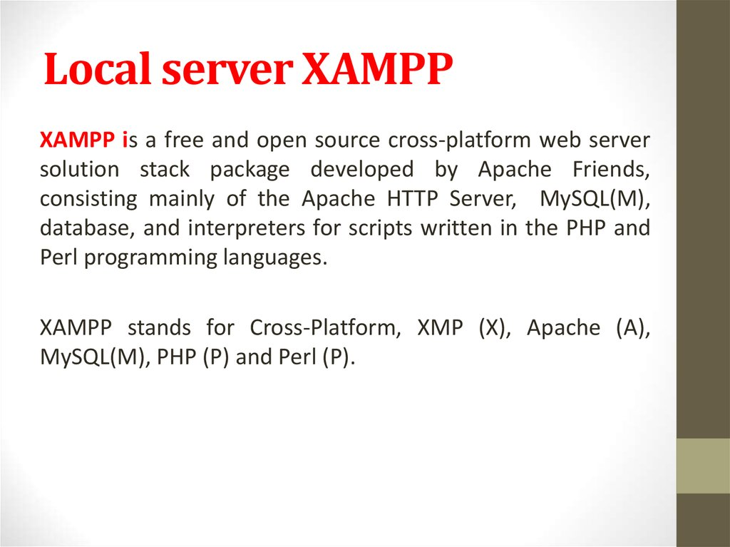 Local server XAMPP