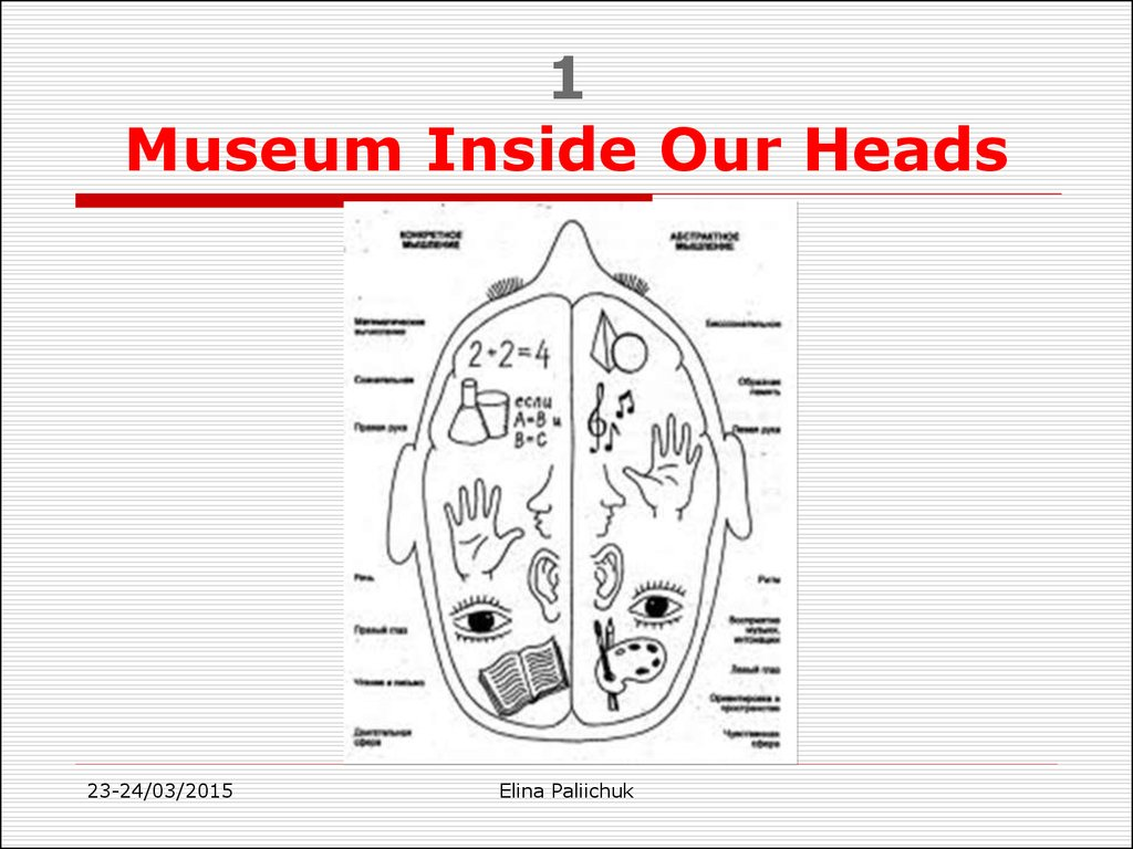 1 Museum Inside Our Heads
