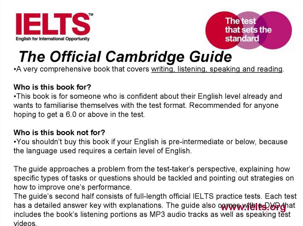 Preparing students for ielts academic module - online