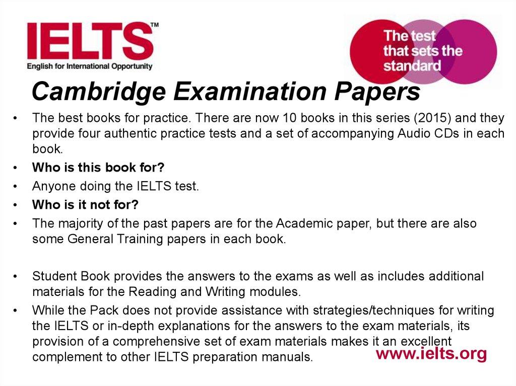 Preparing students for ielts academic module - презентация
