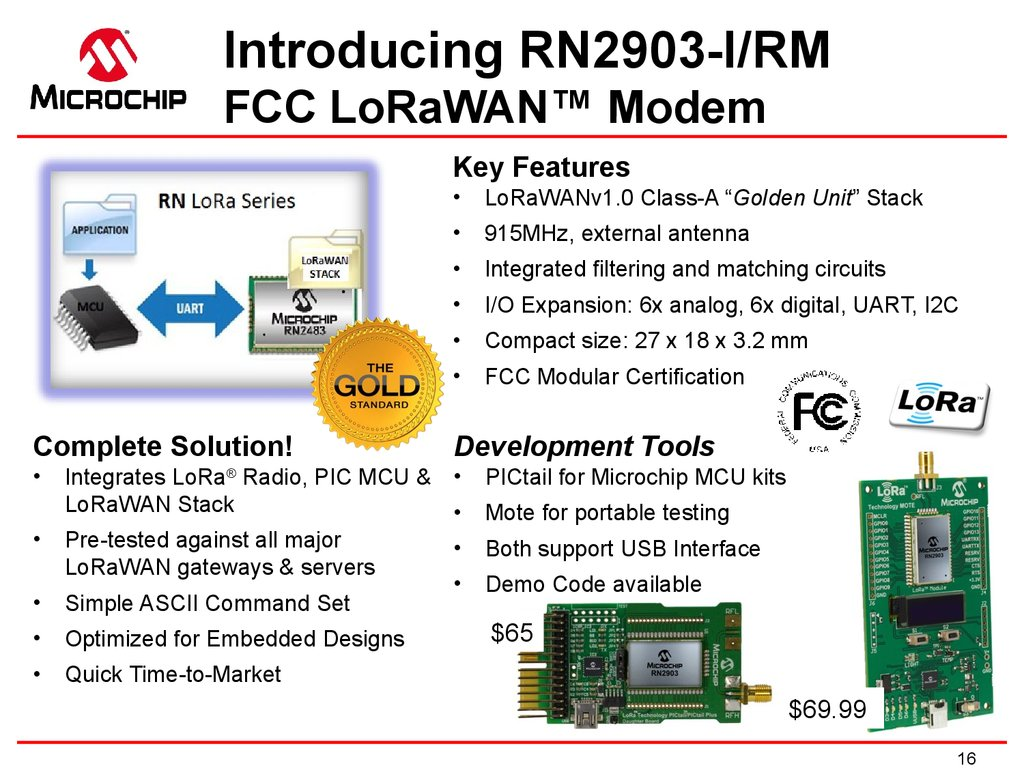 LoRa™ Modem Features