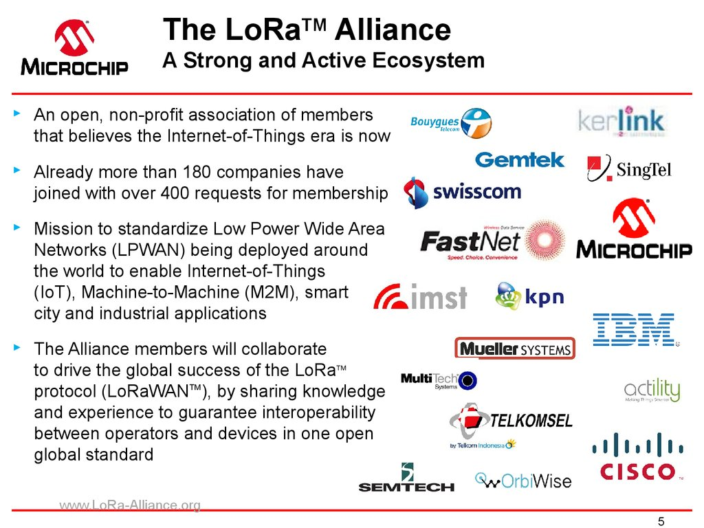 The LoRaTM Alliance A Strong and Active Ecosystem