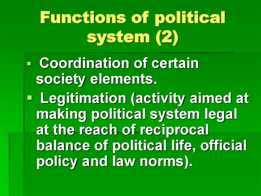 Functions of political system (2)