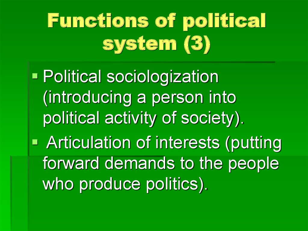 Functions of political system (3)