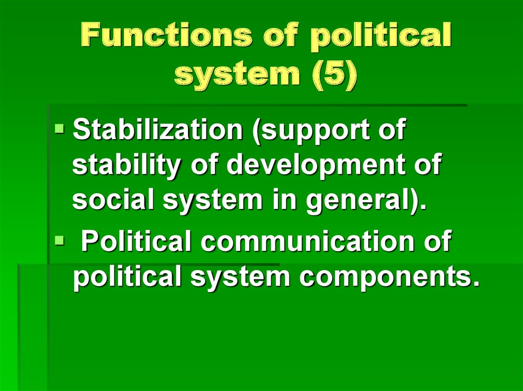 Functions of political system (5)
