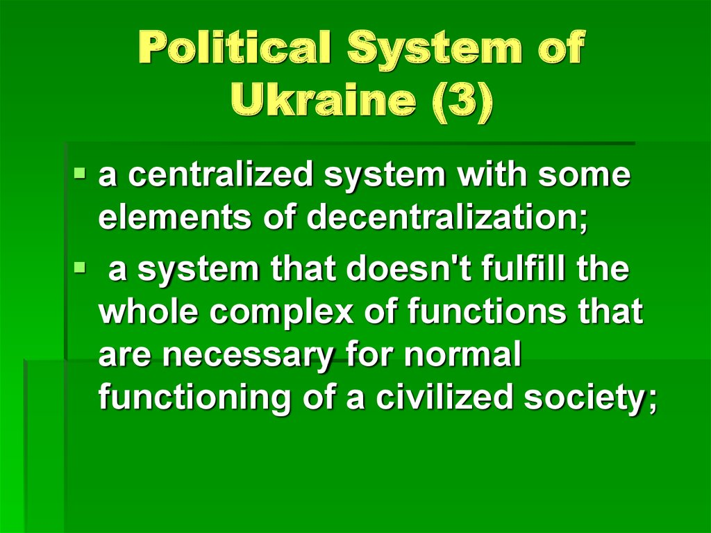 Political System of Ukraine (3)
