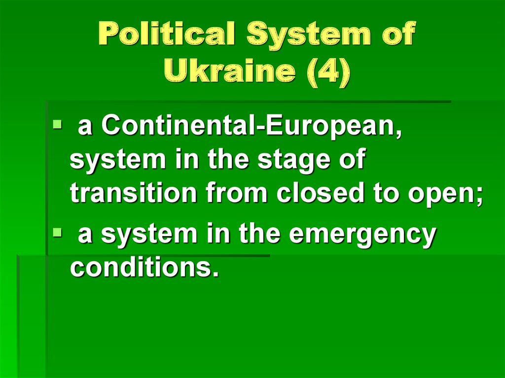 Political System of Ukraine (4)