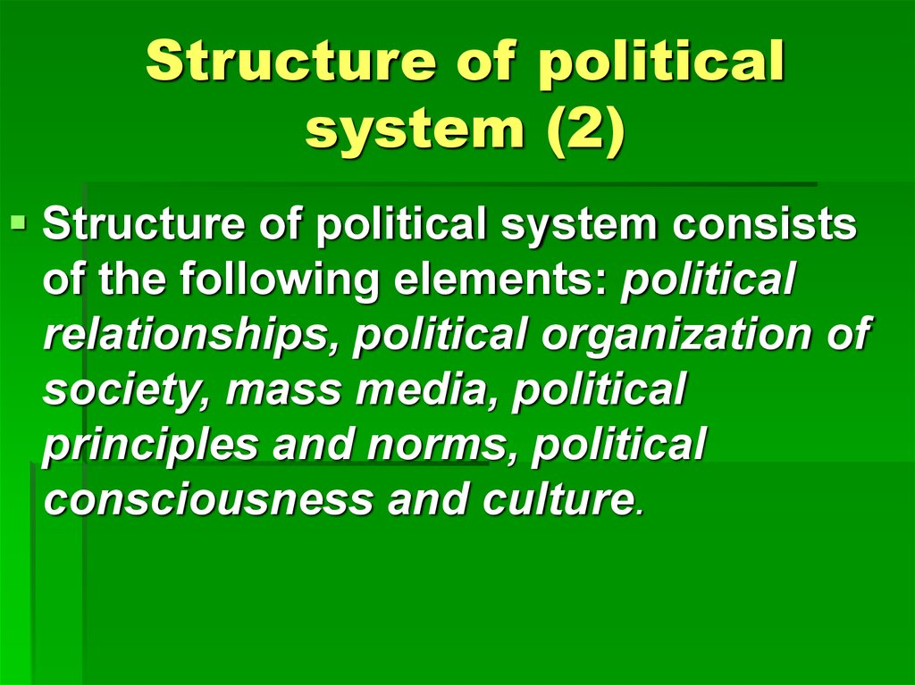 Structure of political system (2)