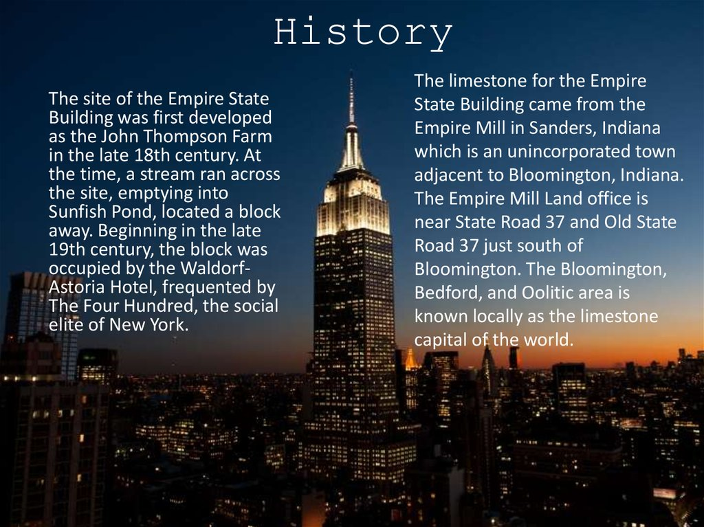 The Empire State Building презентация онлайн