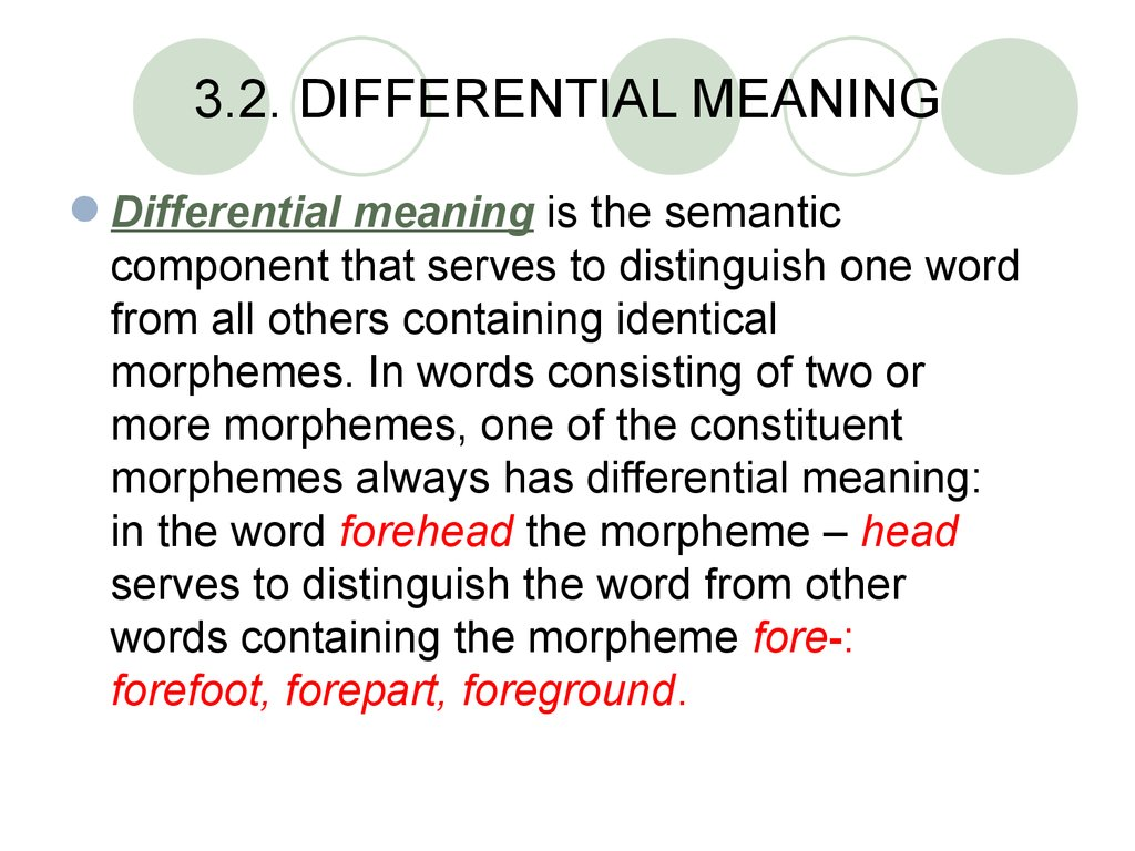 3.2. DIFFERENTIAL MEANING