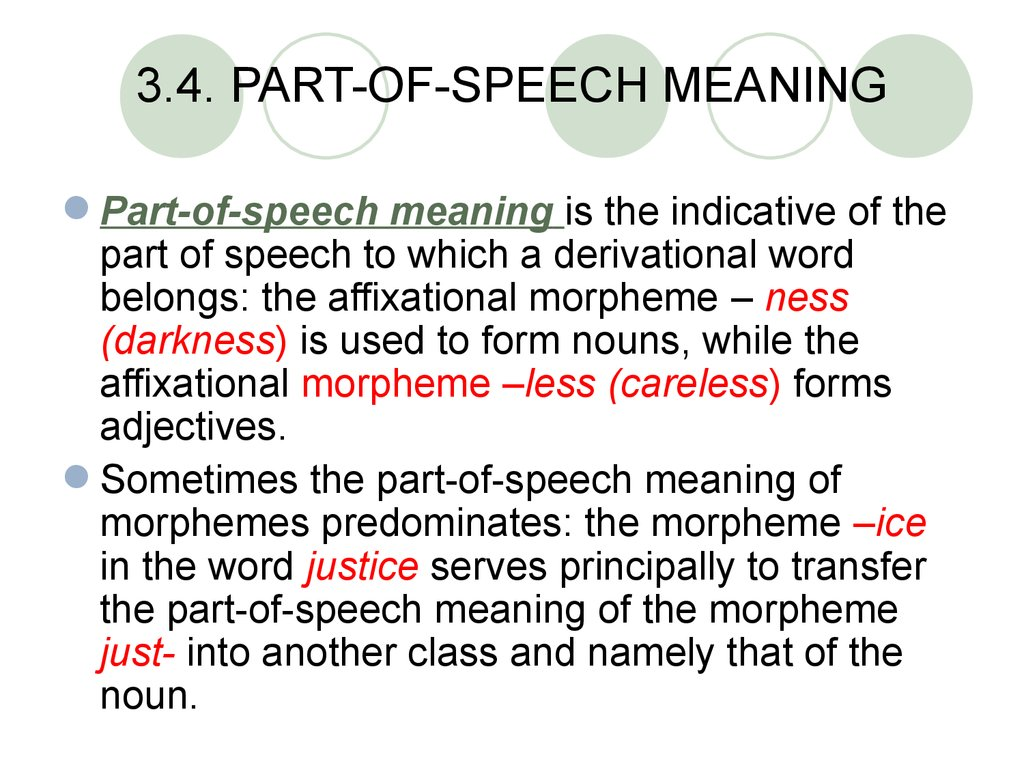 3.4. PART-OF-SPEECH MEANING