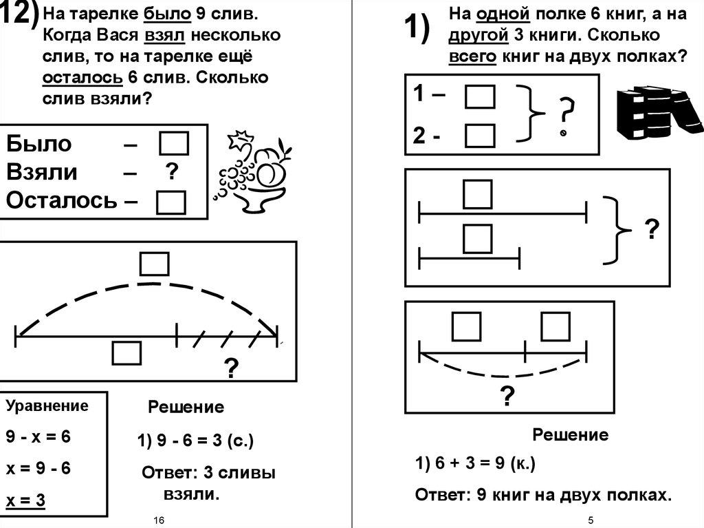 Решение задач столько же 1 класс решение задач в режиме i