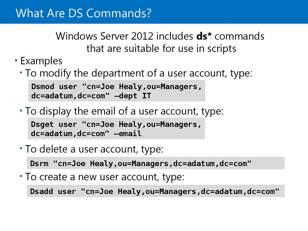 What Are DS Commands?