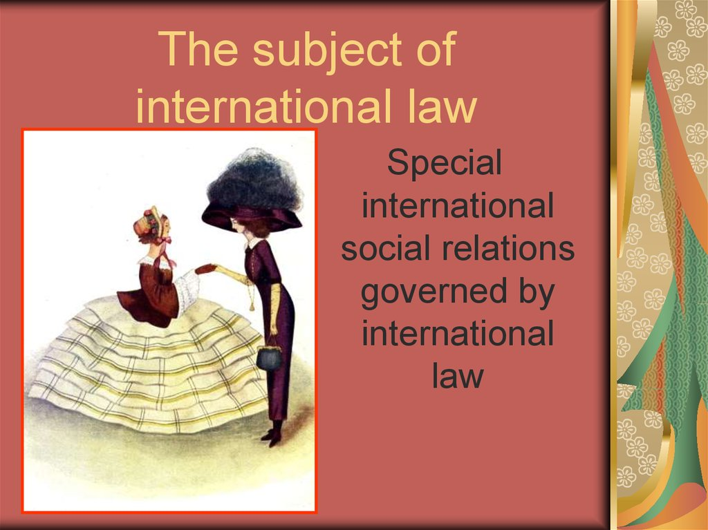 The subject of international law
