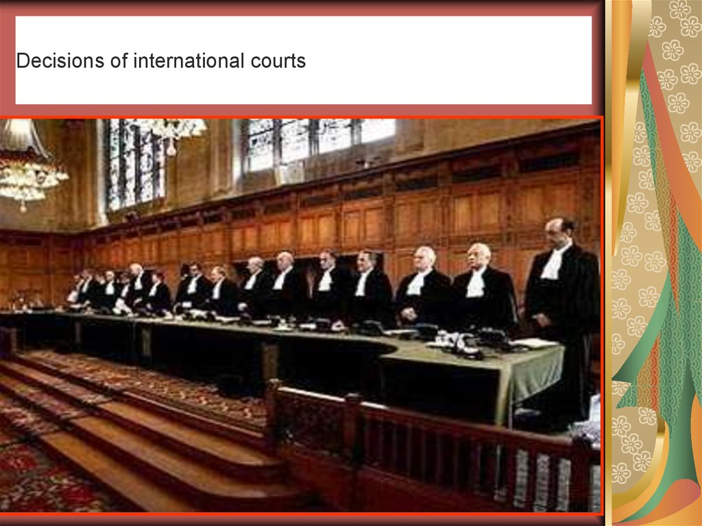 Decisions of international courts