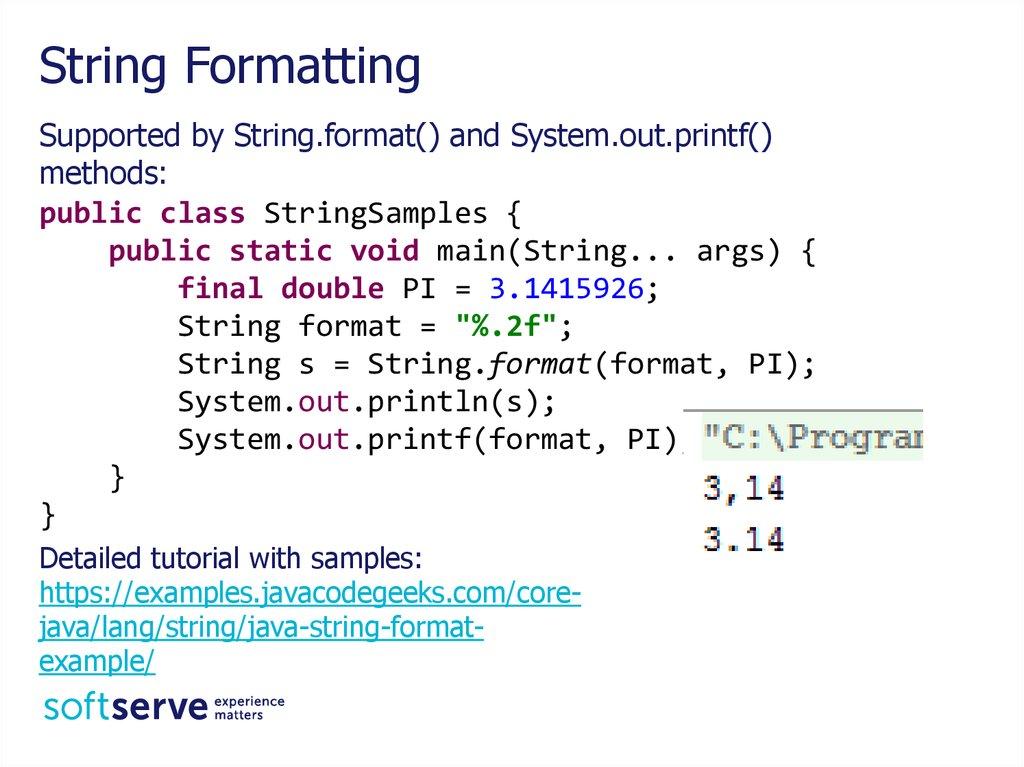 String Regular Expression Java Core Online Presentation