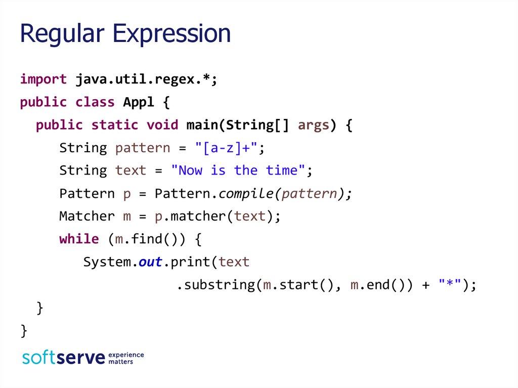 String Regular Expression Java Core Online Presentation Stunning Java Pattern Compile