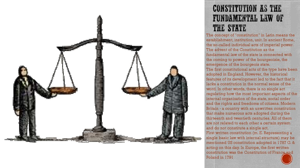 Constitution as the fundamental law of the state