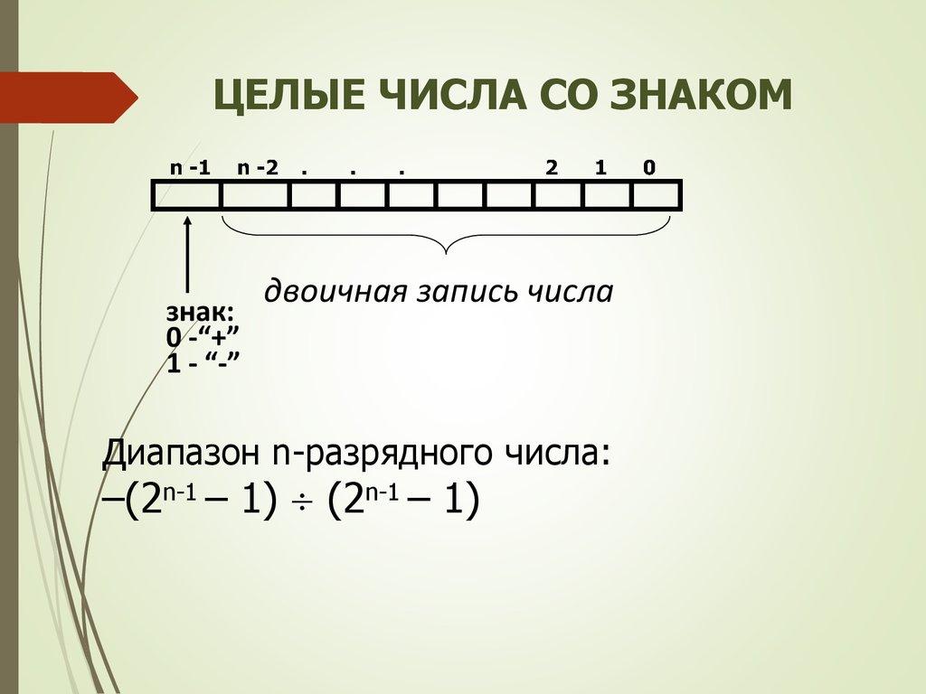 сложение чисел со знаком в обратном коде