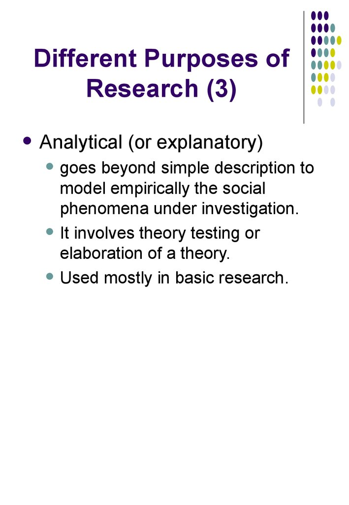 Different Purposes of Research (3)