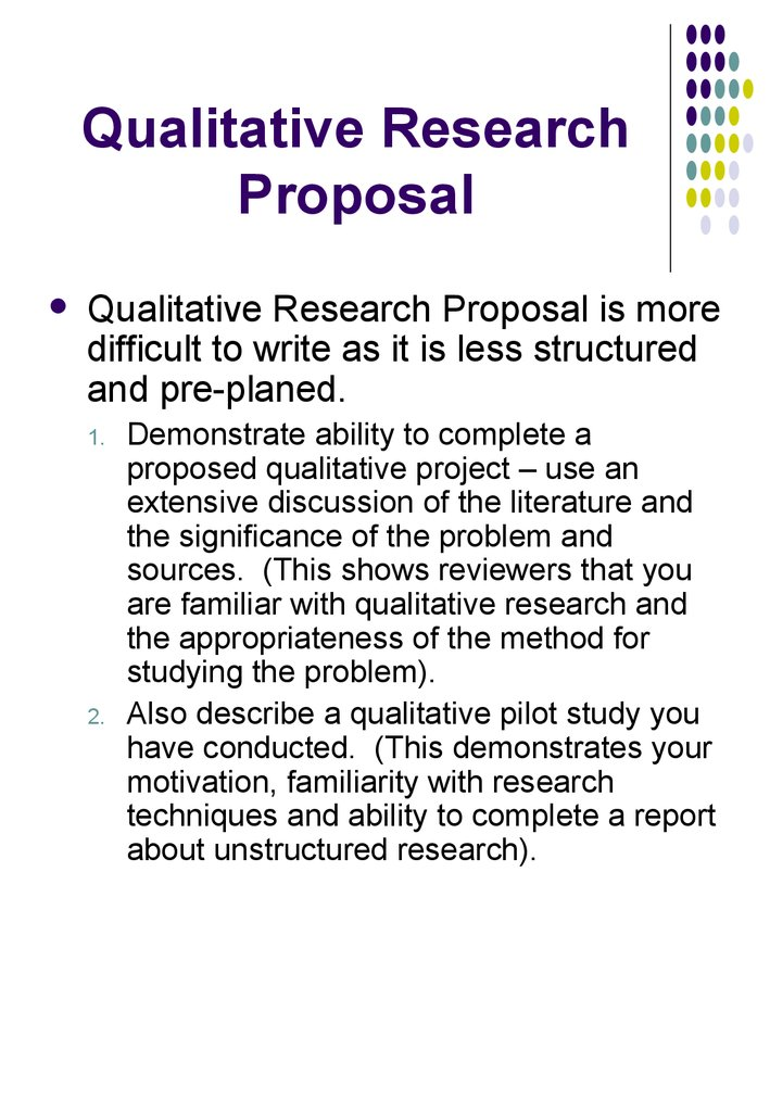 Qualitative Research Proposal