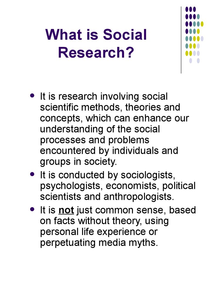 What is Social Research?
