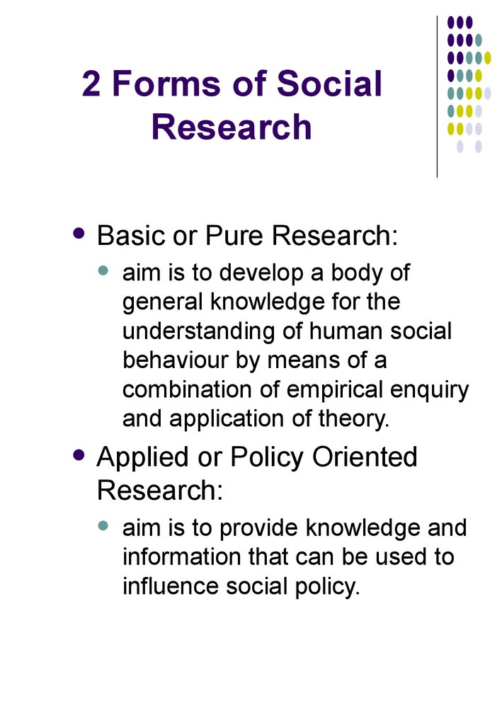 2 Forms of Social Research
