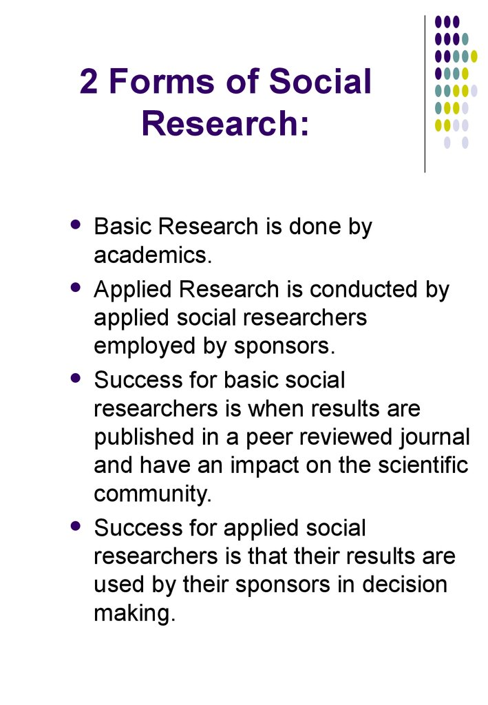 2 Forms of Social Research: