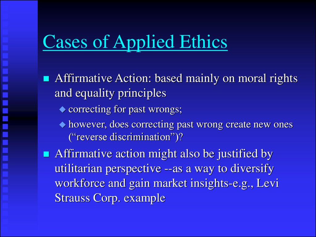 Cases of Applied Ethics