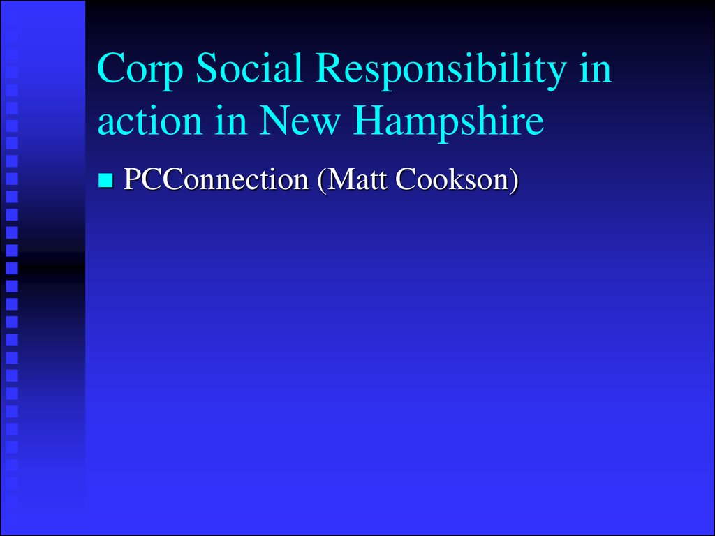 Corp Social Responsibility in action in New Hampshire
