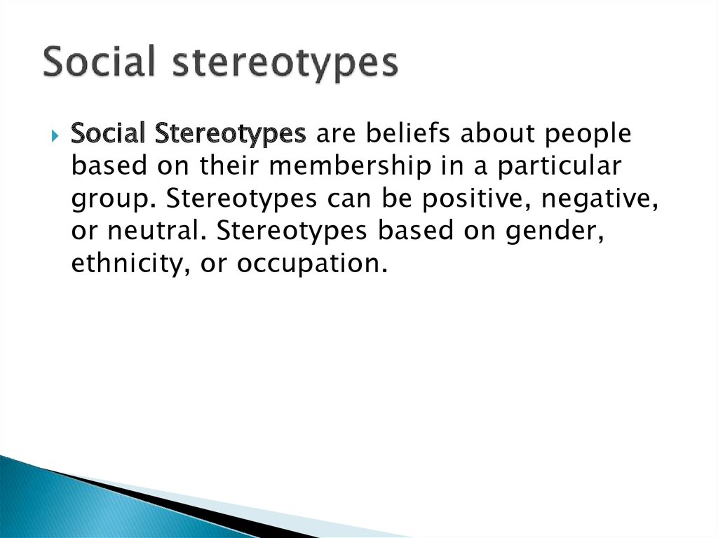 Social stereotypes
