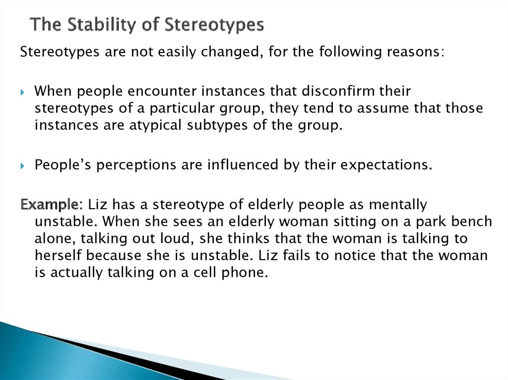 The Stability of Stereotypes