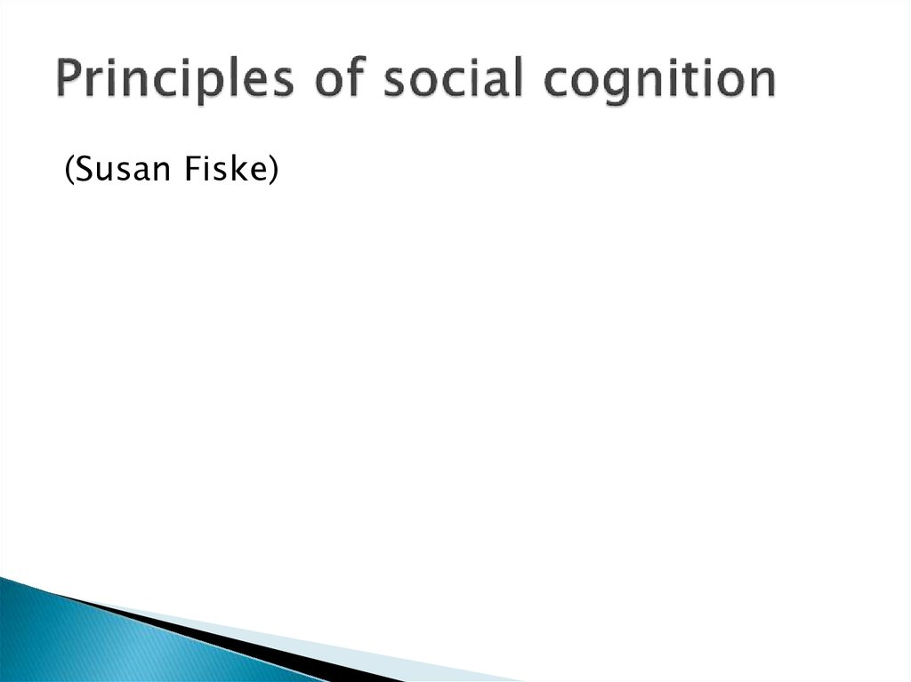Principles of social cognition