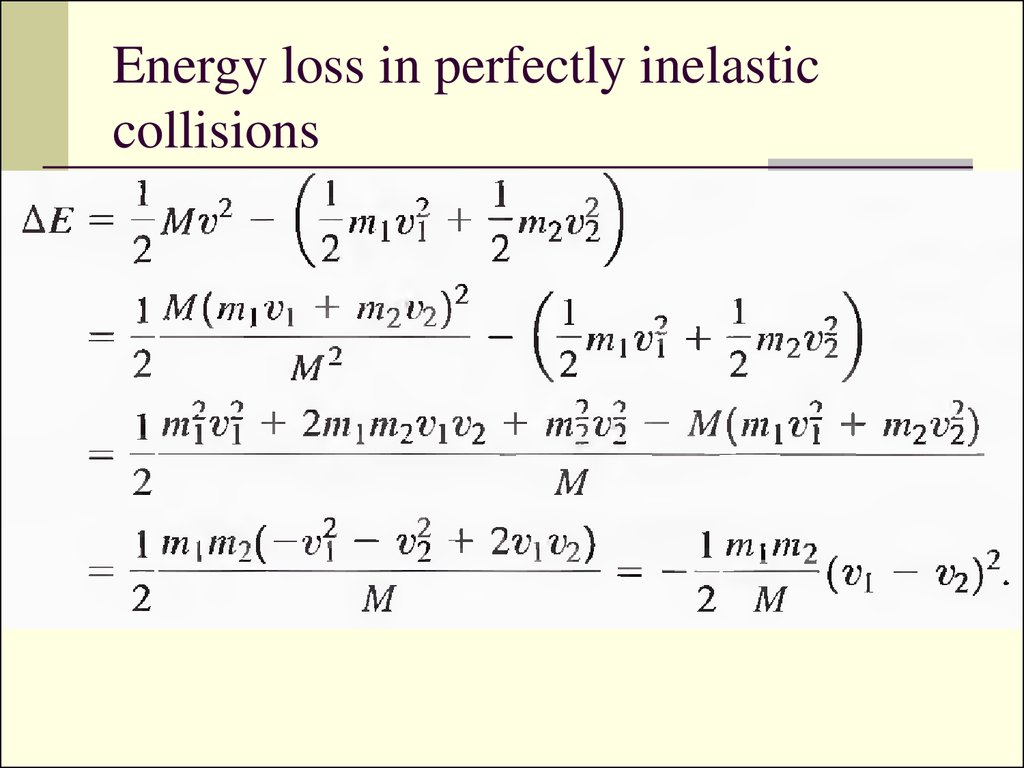 What Is The Equation For Conservation Of Energy A Perfectly Elastic Collision Tessshebaylo